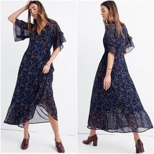 Madewell Vervain ruffle wrap Moonless floral dress